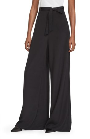 Crepe de Chine Wide Leg Pants