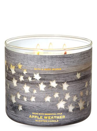 Apple Weather 3-Wick Candle | Bath & Body Works