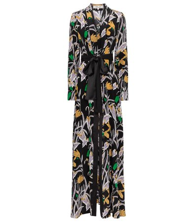 Diane von Furstenberg - Bonnie floral silk maxi dress | Mytheresa