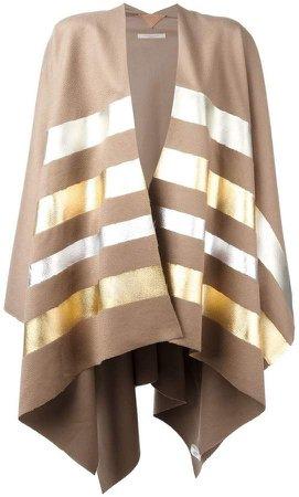 Ermanno Gallamini striped cape