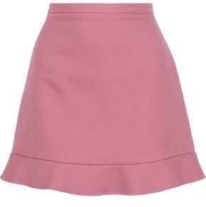Fluted Cotton-twill Mini Skirt