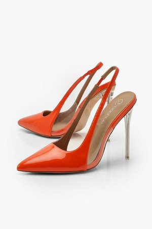 Clear Panel Stiletto Pointed Courts | Boohoo