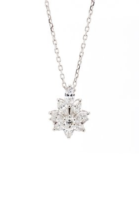 Star Pendant 18K White And Diamond Necklace by Yeprem | Moda Operandi