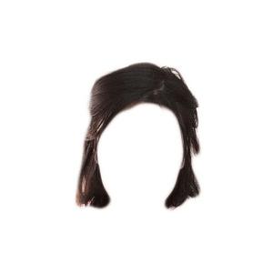 Short Black Dark Brown Hair PNG