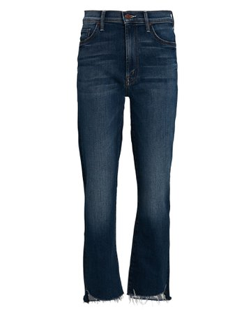 MOTHER The Insider Crop Step Fray Jeans   INTERMIX®
