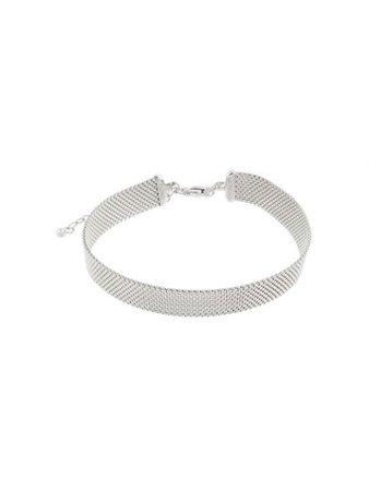 Alinka 18Kt White Gold Mesh Silhoutte Choker ZABC000618W342 Silver | Farfetch