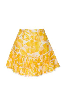 Isla Pleated Floral-Print Cotton-Voile Mini Skirt by Significant Other   Moda Operandi