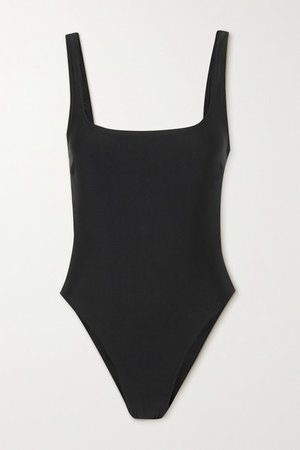 Net Sustain Nineties Stretch-repreve Swimsuit - Black
