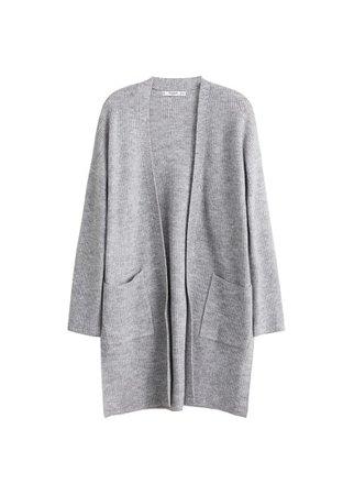 MANGO Pocket long cardigan