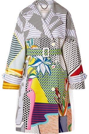Mary Katrantzou   Printed cotton-blend gabardine trench coat   NET-A-PORTER.COM