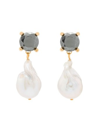 Chloé baroque pearl earrings