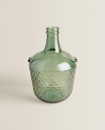 100% RECYCLED GLASS BOTTLE - VASES - LIVING ROOM | Zara Home Netherlands