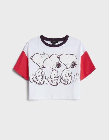 Contrast Snoopy T-shirt - New - Bershka United States
