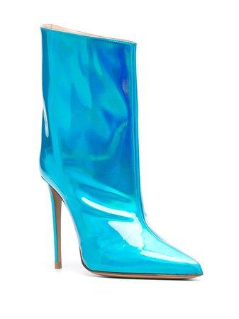Alexandre Vauthier Alex hologram boots blue ALEXLOW110X - Farfetch