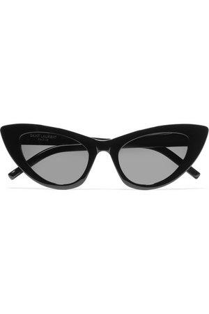 SAINT LAURENT | Lily cat-eye acetate sunglasses | NET-A-PORTER.COM