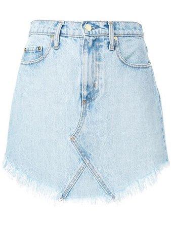 Nobody Denim Frayed Edge Mini Skirt - Farfetch