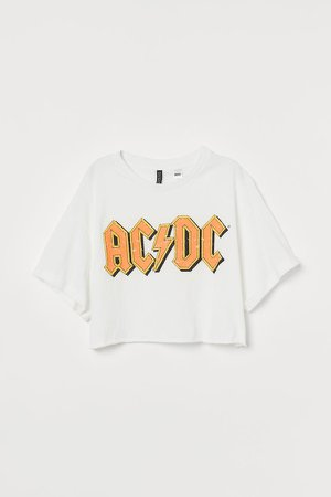 Cropped T-shirt - White
