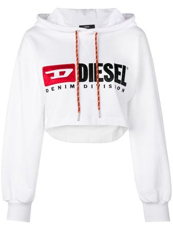 Diesel Cropped logo hoodie $135 - Shop SS19 Online - Fast Delivery, Price