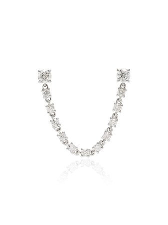 Anita Ko 18kt white gold diamond earring AKDBLPWG - Farfetch