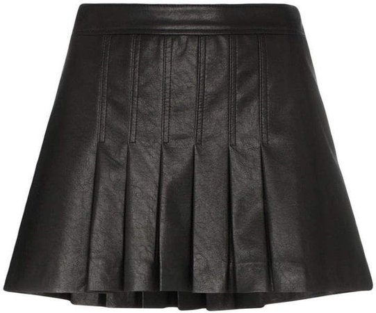 We11done pleated faux-leather mini skirt