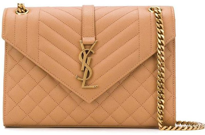 Envelope quilted shoulder bag