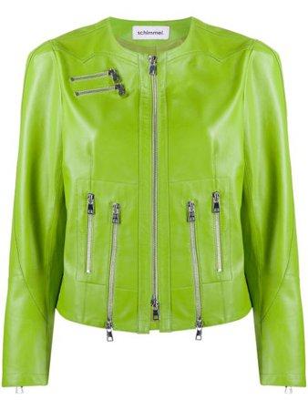 Green Sylvie Schimmel zipped biker jacket - Farfetch