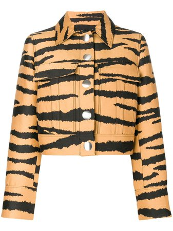Proenza Schouler Tiger Jacquard Jacket AW18 - Farfetch Australia