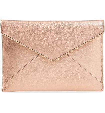 Rebecca Minkoff Leo Metallic Leather Envelope Clutch | Nordstrom