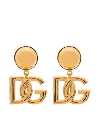 Dolce & Gabbana DG Logo clip-on Earrings - Farfetch