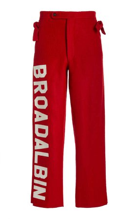 BODE Red Horse Blanket Trousers