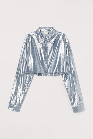 Cropped Shirt - Gray