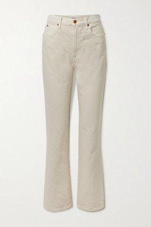 London High-rise Straight-leg Jeans - Ecru