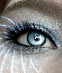 light blue alien eyes