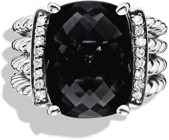 Wheaton Ring with Semiprecious Stone & Diamonds