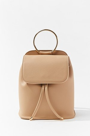 Faux Leather O-Ring Backpack | Forever 21