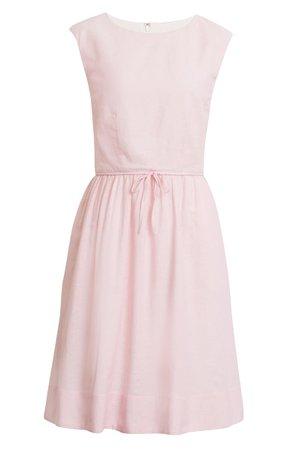1901 Cap Sleeve A-Line Dress pink