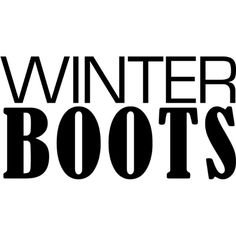 winter boots text