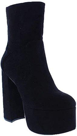 Liliana Suede Black Dorola-1 - Botas de plataforma: Shoes