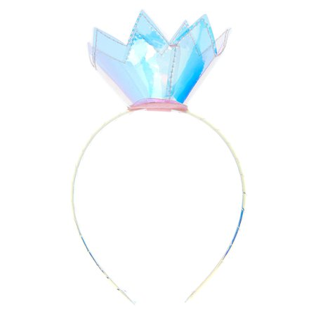 Claire's Club Holographic Crown Headband