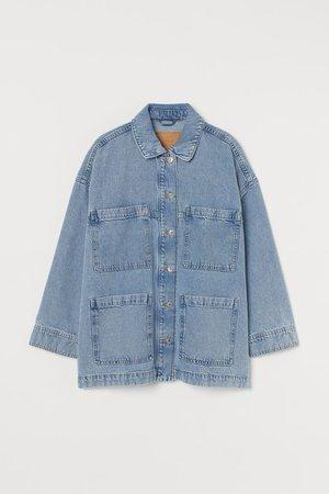 Oversized Denim Jacket - Denim blue - Ladies | H&M US