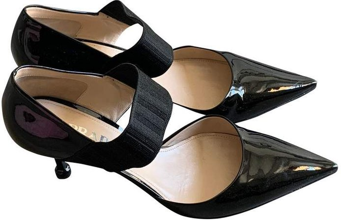 Mary Jane Black Patent leather Heels