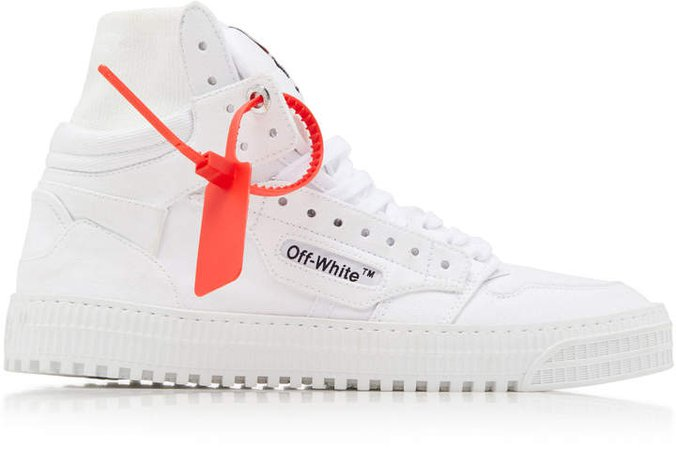 Off White C/O Virgil Abloh Off Court Canvas High-Top Sneakers