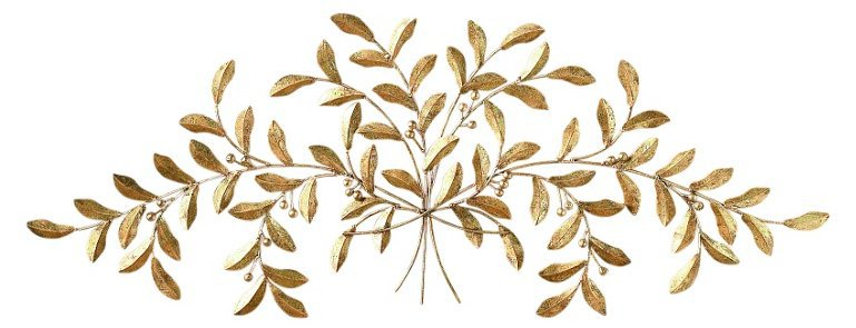 Leaf Wall Accent, Gold | One Kings Lane