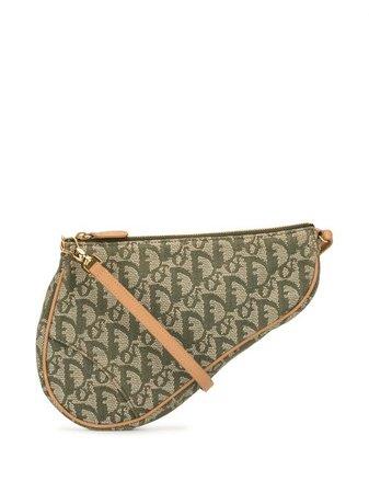 Christian Dior pre-owned Trotter Saddle Shoulder Bag - Farfetch