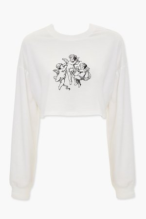 Angel Graphic Cropped Tee | Forever 21