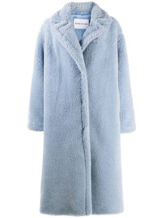 STAND STUDIO Maria Long Faux Fur Coat - Farfetch