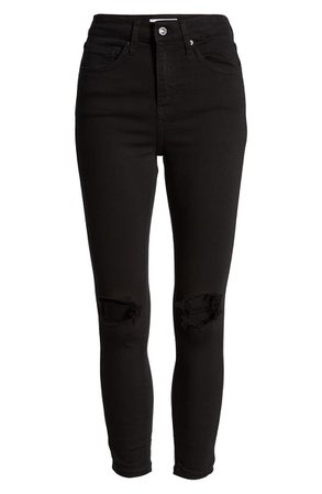 Topshop Jamie High Waist Ripped Skinny Jeans (Regular & Petite) | Nordstrom
