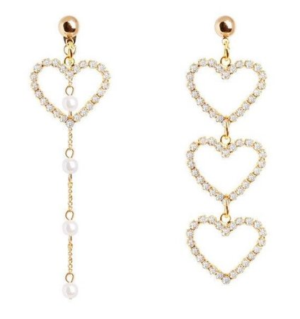 heart dangle pearl earring