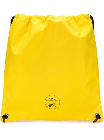 A.p.c. Guitare Poignard Swim Shoulder Bag PSAEHH62142 Yellow | Farfetch