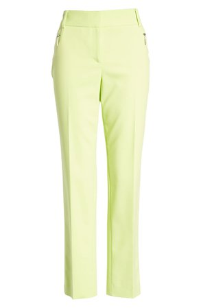 Chaus Dena Zip Pocket Ankle Pants  yellow
